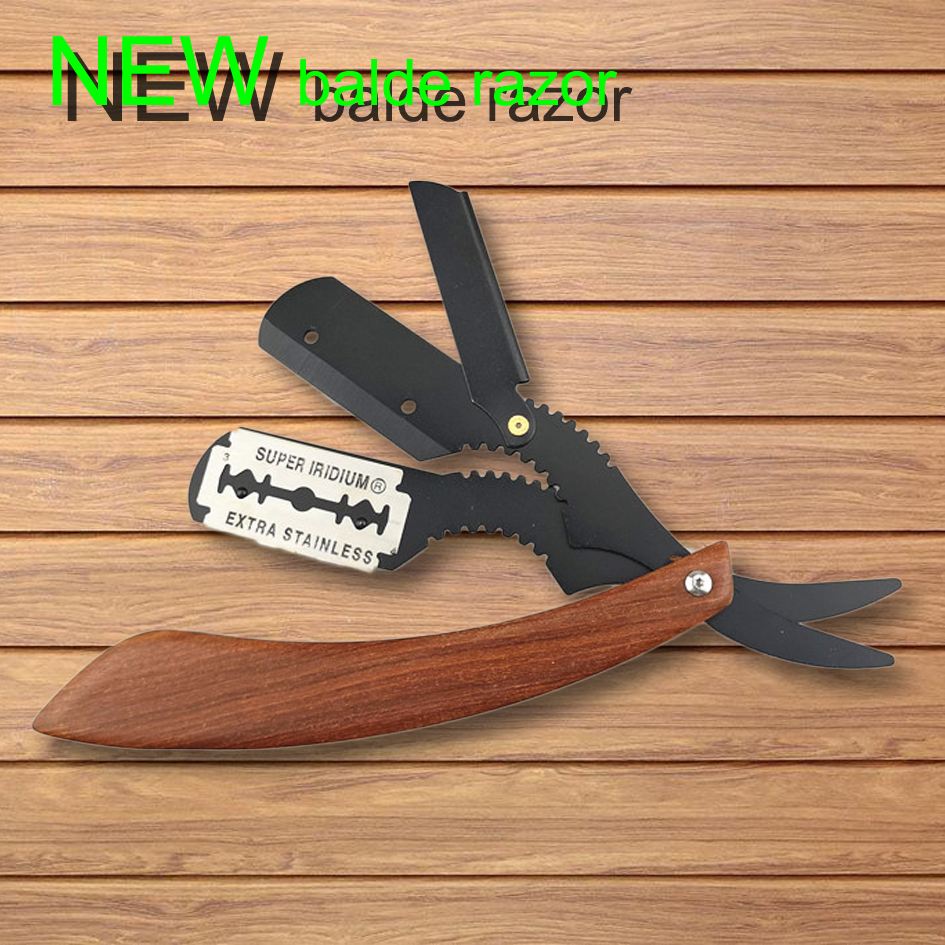 NEW Rosewood Handle Razor Shaving Men's Replaceable Blade Shaving Razor Professional Barber Shaver Portable Razor