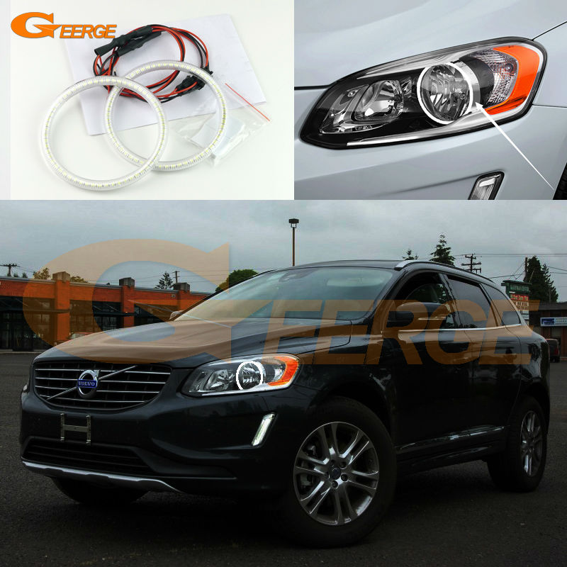 For VOLVO XC60 2014 2015 2016 HALOGEN HEADLIGHT Excellent Angel Eyes Ultra bright illumination smd led Angel Eyes Halo Ring kit fischer xc comfort pro 2014 2015 41 silver