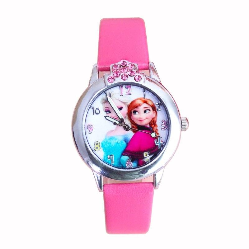 Dropshipping 3D Cartoon Elsa Anna Children diamond Watch Girls Kids Boys