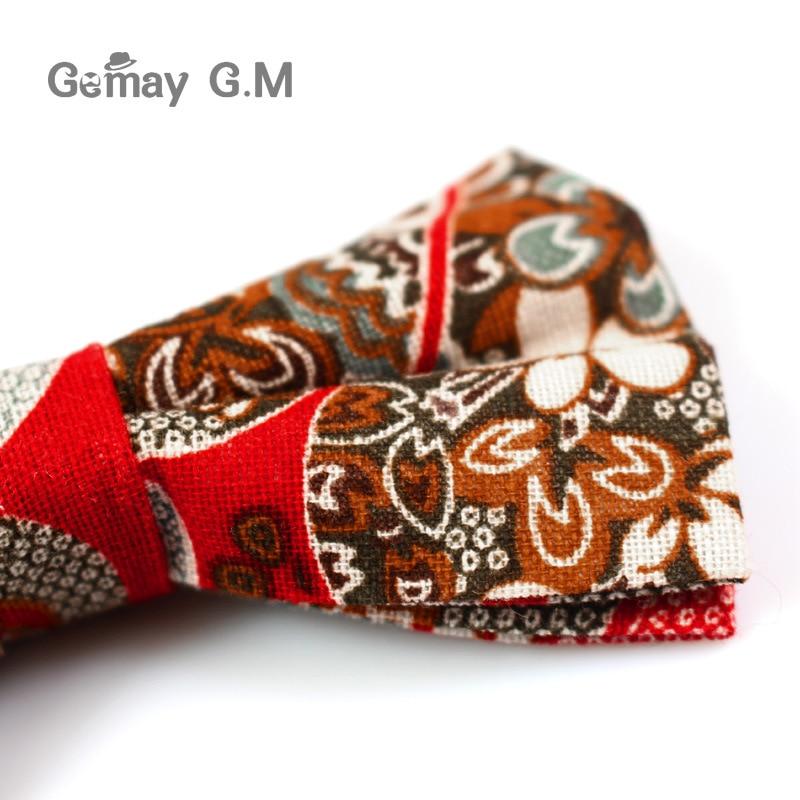 Këpucë pambuku zyrtare të rregullueshme, kravatë Vintage me lule - Aksesorë veshjesh - Foto 6