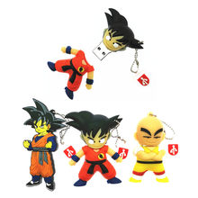 Capacidade Real Pen Drive Dos Desenhos Animados Dragon Ball Dragonball Presente 8 GB GB GB 64 32 16 GB SON GOKU USB flash Drive PenDrives presente brinquedo(China)