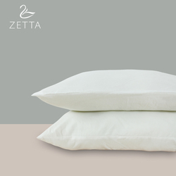 [ZETTA] High elastic adult pillow soft soft feather velvet comfortable neck student single pillow 48X74cm