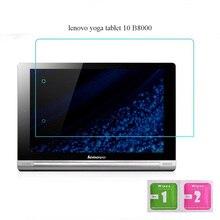 Protector de pantalla para lenovo yoga tablet 10 b8000 tablet pc película película de vidrio templado 2.5d 9 h borde transparente ultra-delgado