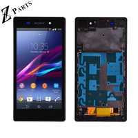 Original For Sony Xperia Z1 L39H L39 C6902 C6903 C6906 LCD Display + Touch Screen Digitizer Assembly with frame free shipping