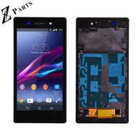 Oryginalny dla Sony Xperia Z1 L39H L39 C6902 C6903 C6906 wyświetlacz LCD + montaż digitizera ekranu dotykowego z ramą darmowa wysyłka
