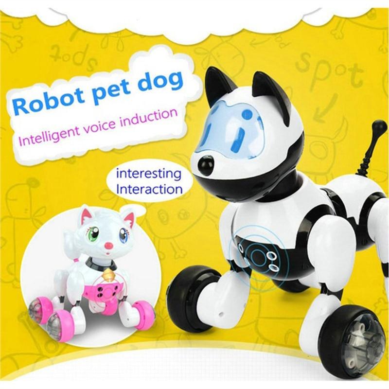 Saiwen Reconnaissance Vocale Robot intelligent Chien jouet électronique Interactif Doggy Chiot Robot Musique led Yeux Clignotant jouet d'action