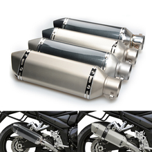 Universal Motorcycle Exhaust Pipe Modified Exhaust Pipe for HONDA CB190 XADV 750 XRV750 L-Y AFRICA TWIN CBR900RR CBR600 CB400 стоимость