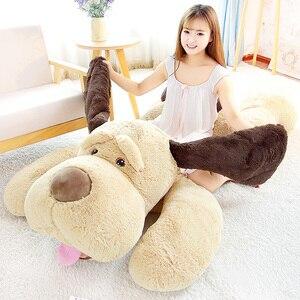 Duży miś pluszowy pies zabawki maskotka szczeniak pies miękki pluszowy poduszka ze zwierzątkiem domowa dekoracja na sofę 60/80/100cm