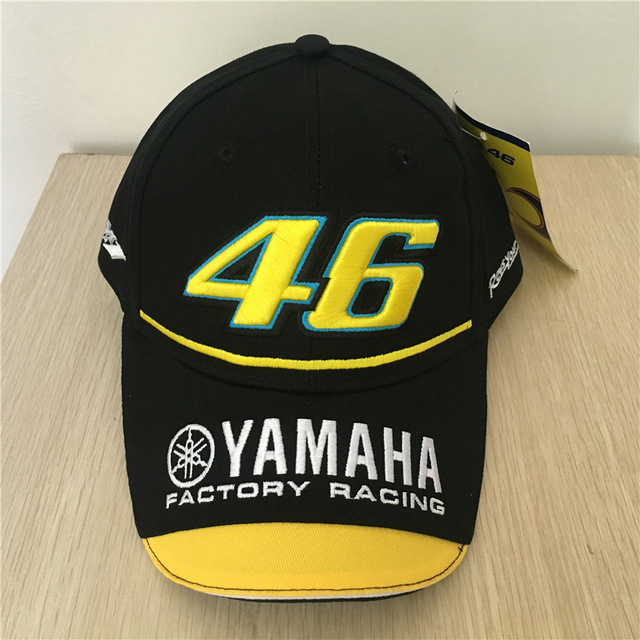 2017 New Black  Rossi VR 46 Baseball Cap Motogp 46 Motorcycle 3D Embroidered Racing Cap Men Women Snapback Caps Men Hats 2016 new new embroidered hold onto your friends casquette polos baseball cap strapback black white pink for men women cap