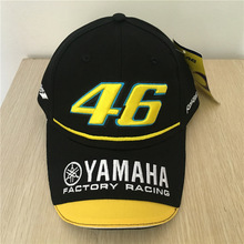 2017 New Black Rossi VR 46 Baseball Cap Motogp 46 Motorcycle 3D Embroidered Racing Cap Men Women Snapback Caps Men Hats