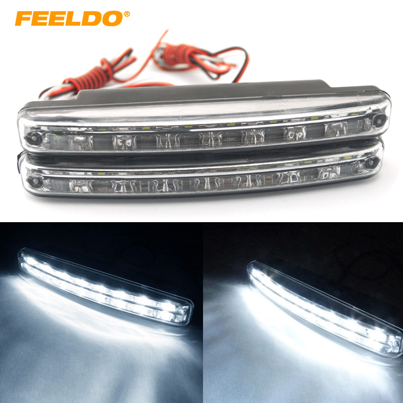 2Pcs New Automatic Switch ON/OFF Fog Light Euro DRL Daytime Runing Light #FD-2467