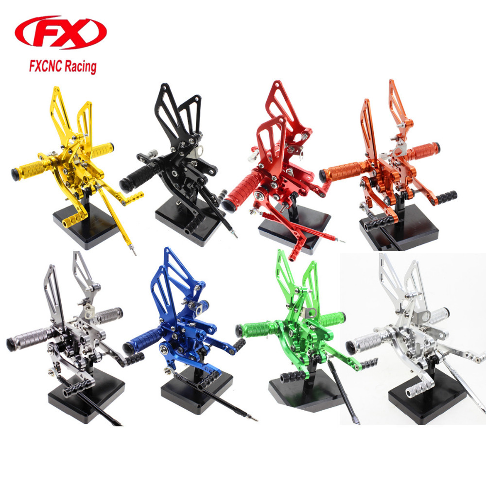 For Suzuki TL1000S TL1000R 1997 - 2003 02 Aluminum Motorcycle Foot Rest Rearset Footpegs Footrest Foot Pegs Pads Pedals Rear Set 1set motorcycle rearset foot pegs footrest rear set for ducati 848 1098 1098s 1098r 1198 titanium wholesale d10