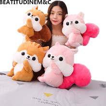 1Pcs 33cm/42cm Cute Long Tail Squirrel Plush Toy, Animal Stuffed Childrens Birthday Gift, Home Decor
