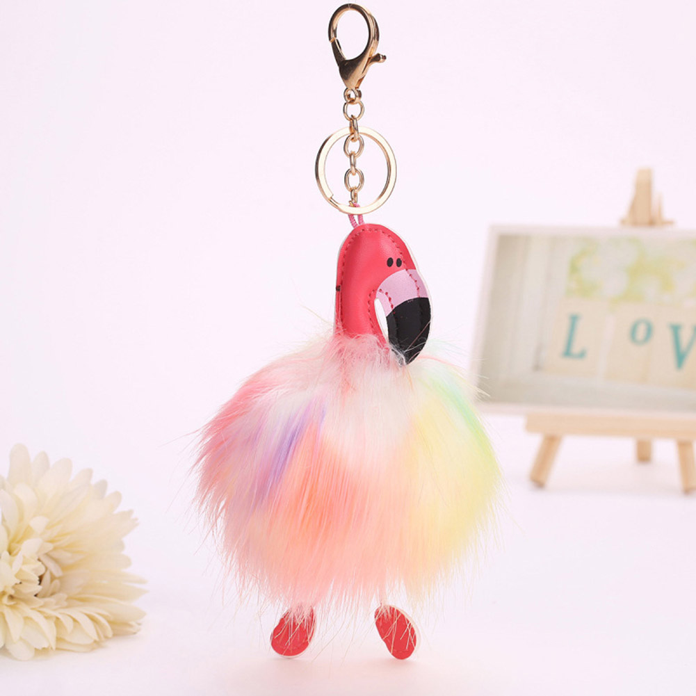 2018 Hot Sell Lovely Bag Charms Accessories Bird Artificial Rabbit Fur Bag Parts & Accessories Ball Women Car