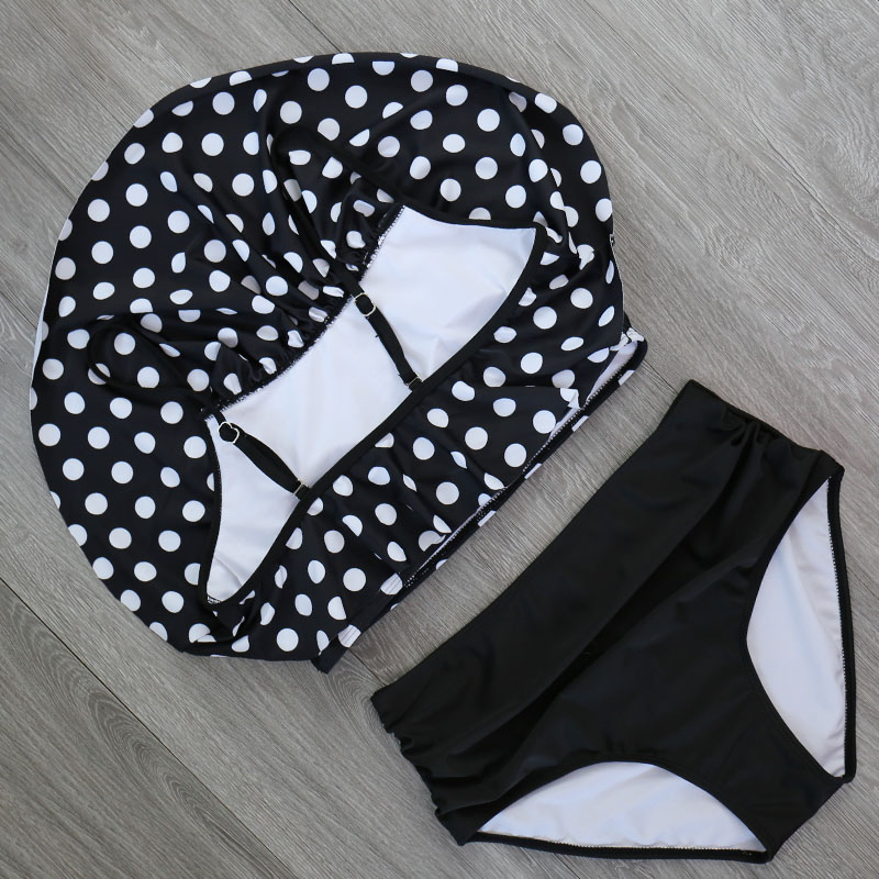 HTB1BvHQX1L2gK0jSZFmq6A7iXXaC 2018 Bikinis Women Swimwear High Waist Swimsuit Halter Sexy Bikini Set Retro Bathing Suits Plus Size Swimwear XXL