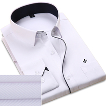 DUDALINA 2017 Men Casual Long Sleeved Solid shirt Slim Fit Male Social Business Dress Shirt Pocket Men Clothing Striped