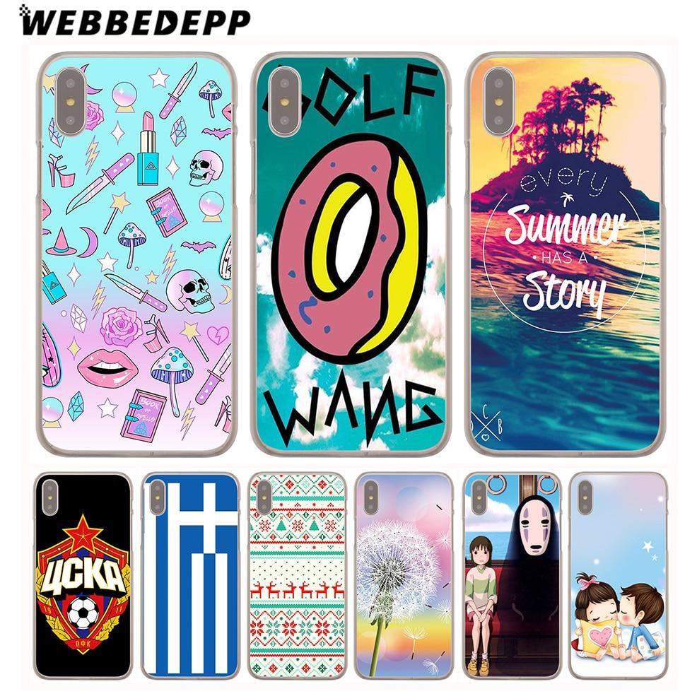 WEBBEDEPP Golf Wang Odd Future Hard Cover Case for iPhone 8 7 Plus 6 6s Plus 5 5S SE 5C 4 4S X/10