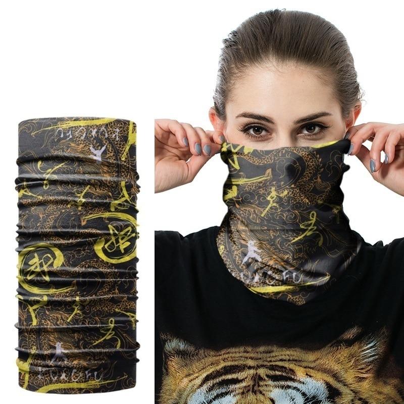 Mask-Cap Bandana Snood Headwear Scarf Neck-Gaiter Muffler Seamless Beanie Tube Anti-Uv