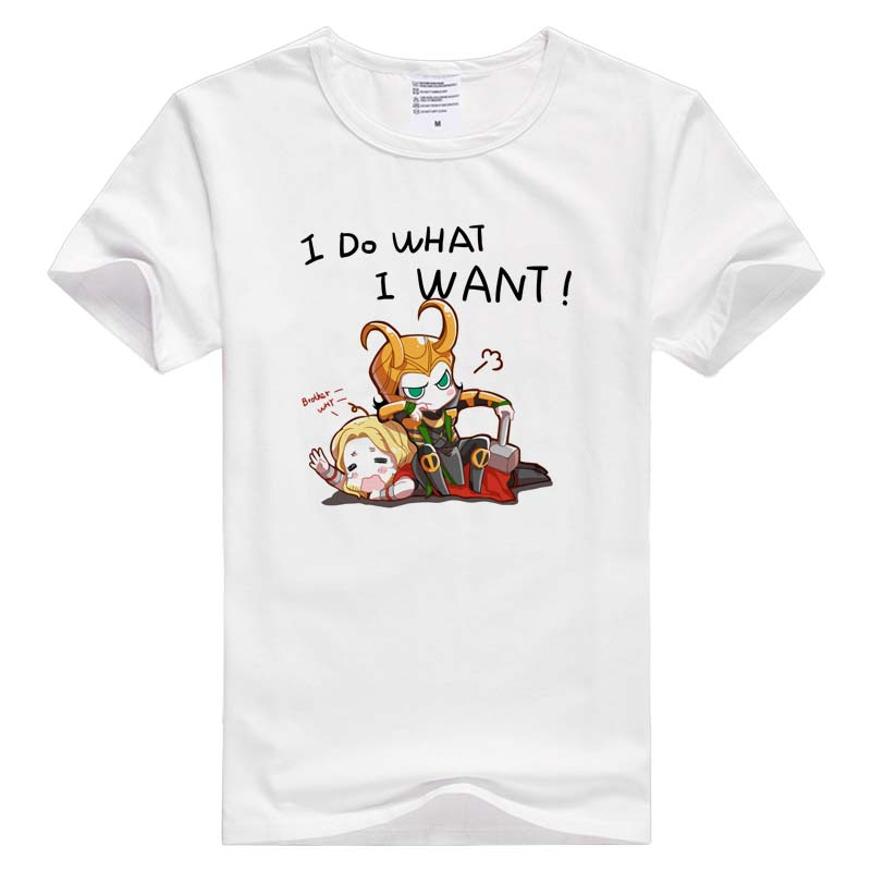 i do what i want thor loki short sleeve casual Men Women T-shirt Comfortable Tshirt Cool Print Tops GA533