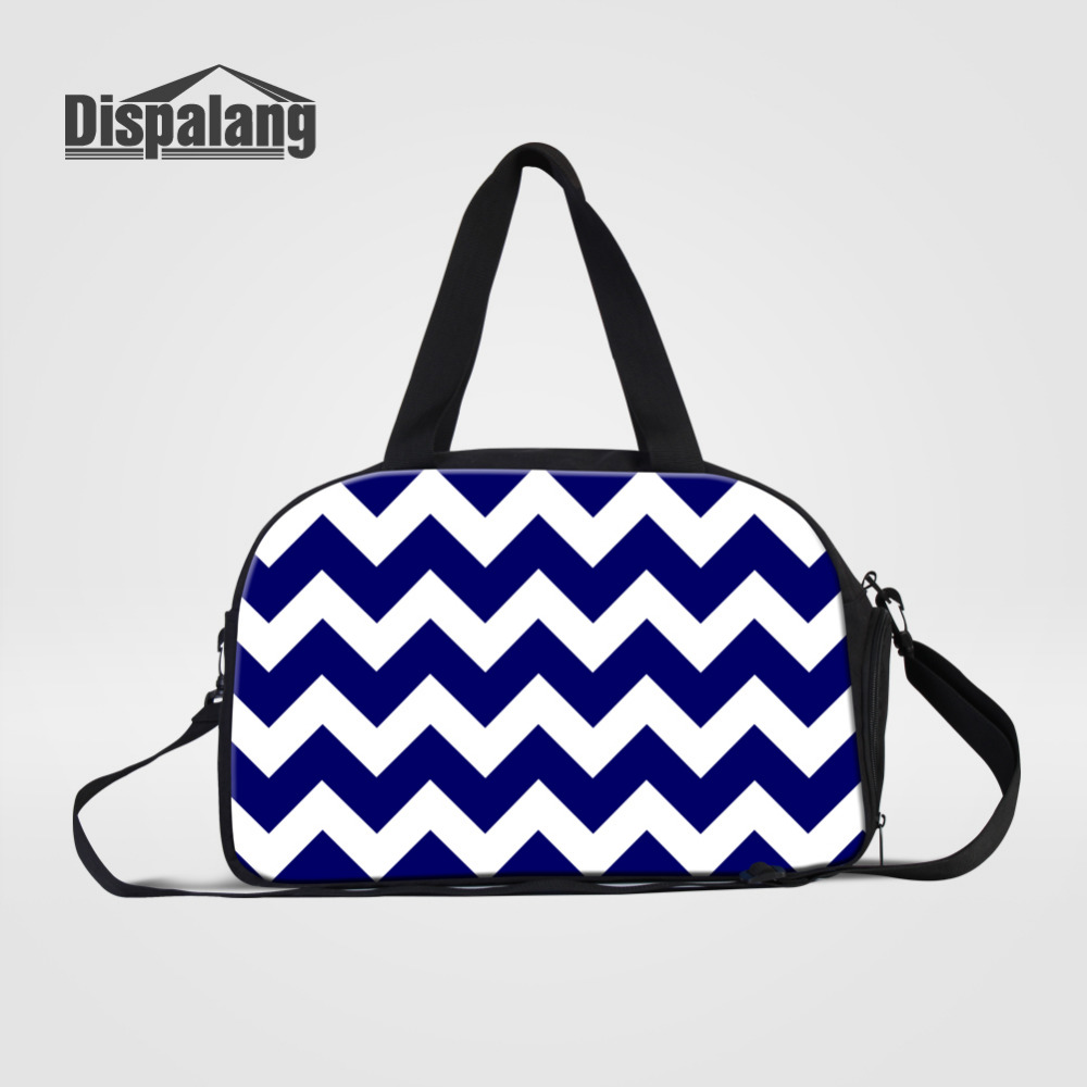Dispalang Women Traveling Shoulder Bag Striped Print Large Capacity Travel Hand Luggage Bag Clothes Organizer Mens Duffle Bags