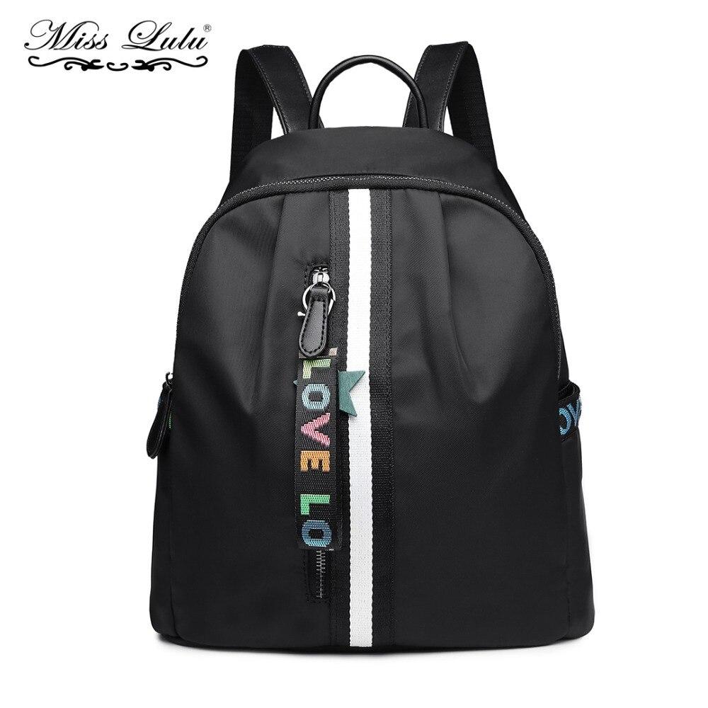 eff0e3a57c Miss Lulu Unisex Backpacks School Bags for Teenage Girls Boys Waterproof Nylon  Travel Rucksack Shoulder Daypack Book Bag YD6830