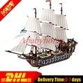 На Складе ЛЕПИН 22001 Пираты Серии Императорского Флагманская Модель Building Blocks Набор Пиратский Корабль Игрушки Для детей 10210