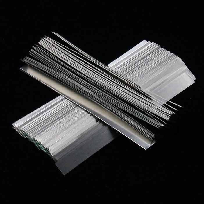 100pcs/lot  0.15mm X 7mm X 100mm Quality Low Resistance 99.96% Pure Nickel Strip Sheets For Battery Spot Welding Machine
