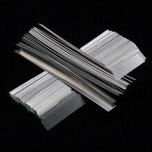 Hojas de Tira de níquel puro para máquina de soldadura por puntos de batería, 100 unidades/lote, 0,15mm x 7mm x 100mm, calidad baja, 99.96% hojas