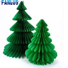 1pcs/lot 7.5cm/20cm Christmas Tree Honeycomb Party Decoration Decorations For Home favors