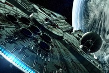 Star Wars: The Force Awakens Millennium Falcon Spacecraft Science Fiction Movie Film Poster Fabric Silk Posters And Prints