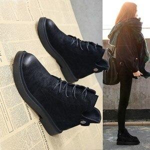 Image 2 - 2018 outono/inverno nova Martin botas para as mulheres com o versátil estudantes com retro Britânico estilos Europeus populares das Mulheres botas