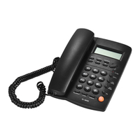 Desktop Corded Telephone Phone With LCD Display Caller ID Volume Adjustable Calculator Alarm Clock For House