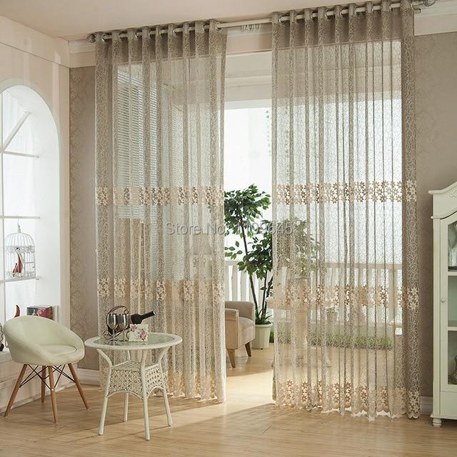 Gris couleur nature creux out Jacquard rideaux pour salon voilage ...