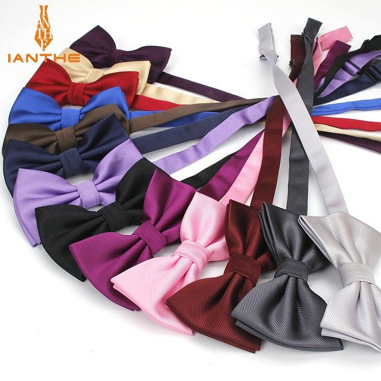 Bow Tie Fashion Wedding Party Men Women Gravata-borboleta Solid Color Cravat Polyester Bowtie Male Dress Shirt Gift Butterfly