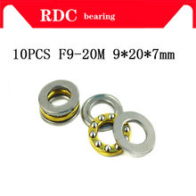 Free Shipping 10pcs F9-20M High quality Axial Ball Thrust Bearing 9 x 20 x 7 mm miniature Plane thrust ball bearing(China)
