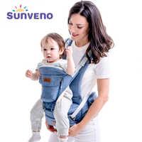 SUNVENO porte-bébé face avant porte-bébé confortable fronde sac à dos pochette enveloppement bébé kangourou Hipseat pour nouveau-né 0-36 M