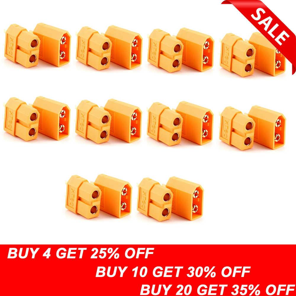 20 piezas XT60 XT-60 macho hembra Bullet conectores enchufes para RC Lipo batería (10 pares) venta al por mayor Dropship