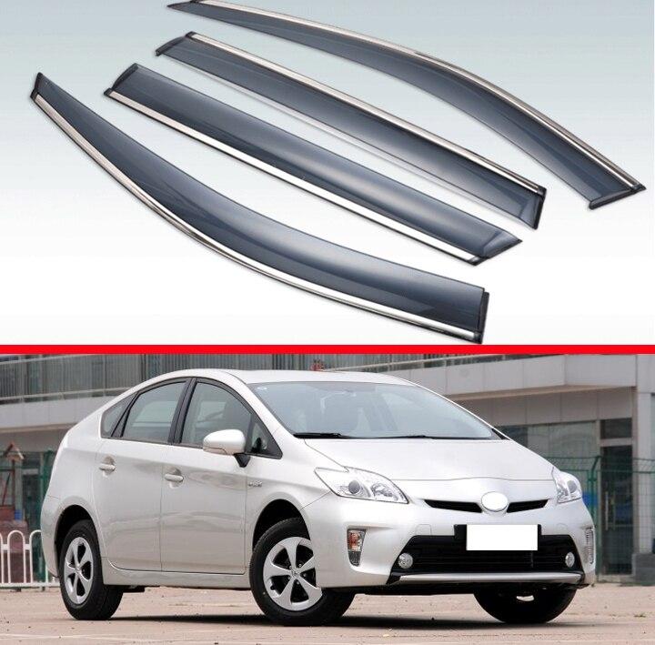 Pour Toyota Prius 2012-2015 ABS fenêtre en plastique déflecteur de Vent visière pluie/pare-soleil Vent