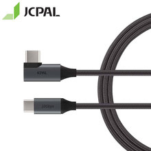 JCPAL FlexLink USB 3.1 Cable Type-C Gen2 10Gbps 90-degree Connector At One End 1.5-meter Length USB-C 87W 4K 60Hz 53298