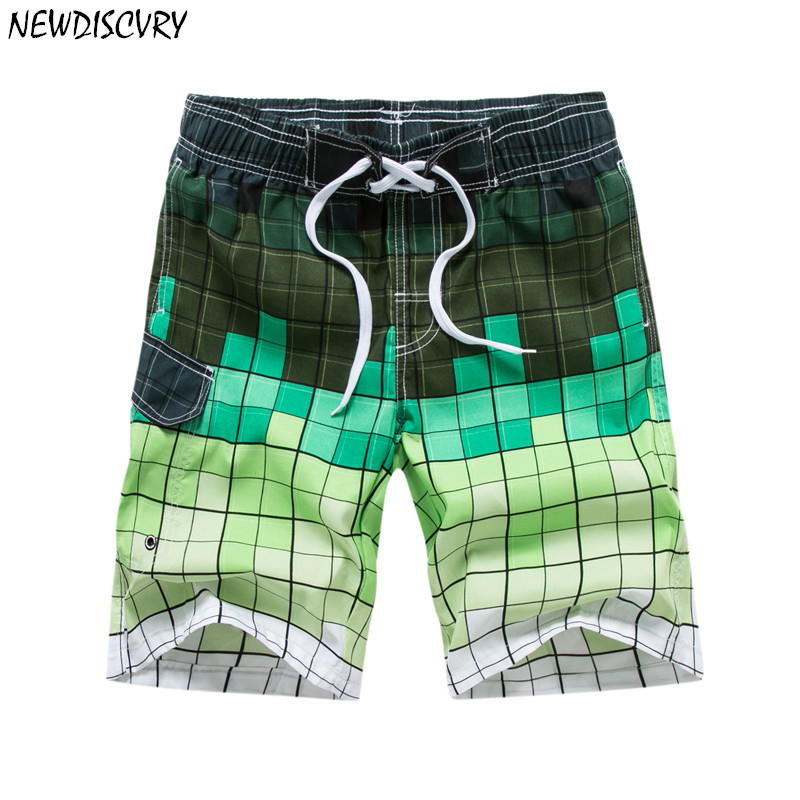 NEWDISCVRY Men's Beach   Shorts   2018 Summer Striped Loose Men   Shorts   Quick Dry Male Trunks Sea Man   Board     shorts   Plus Size 3xl