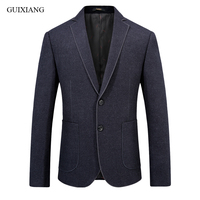 New arrival Spring and Autumn style men boutique woolen balzers business casual single breastesd lim solid suit coat size S 2XL