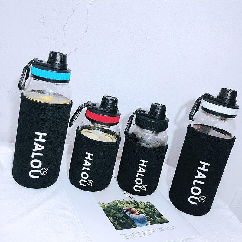 1000 ml זכוכית ניידת בקבוק מים ספורט BPA משלוח ספורט מים בקבוק Drinkware Leakproof סיור בקבוקי קמפינג טיפוס טיולים