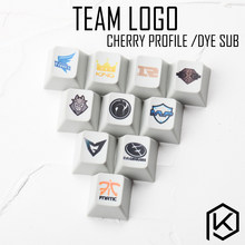 Novelty cherry profile pbt keycap for mechanical keyboards Dye Sub legends team logo mvp fnatic rng king ig eg snake afs ssg g2(China)