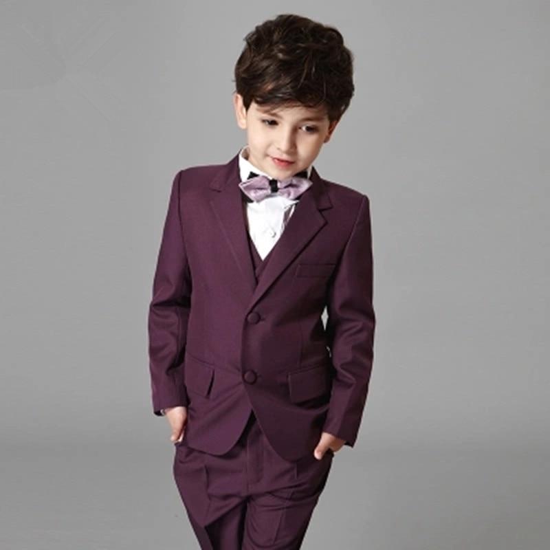 High-end childrens clothing boys suit suit three-piece 2017 boys dress suit suit trousers shirt host