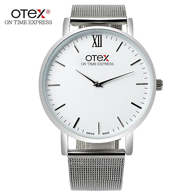 Brand Watch With Simple Design Men's Quartz Clock Relogio Masculino Montre Femme Super Thin Steel Strap Business Watch Dw