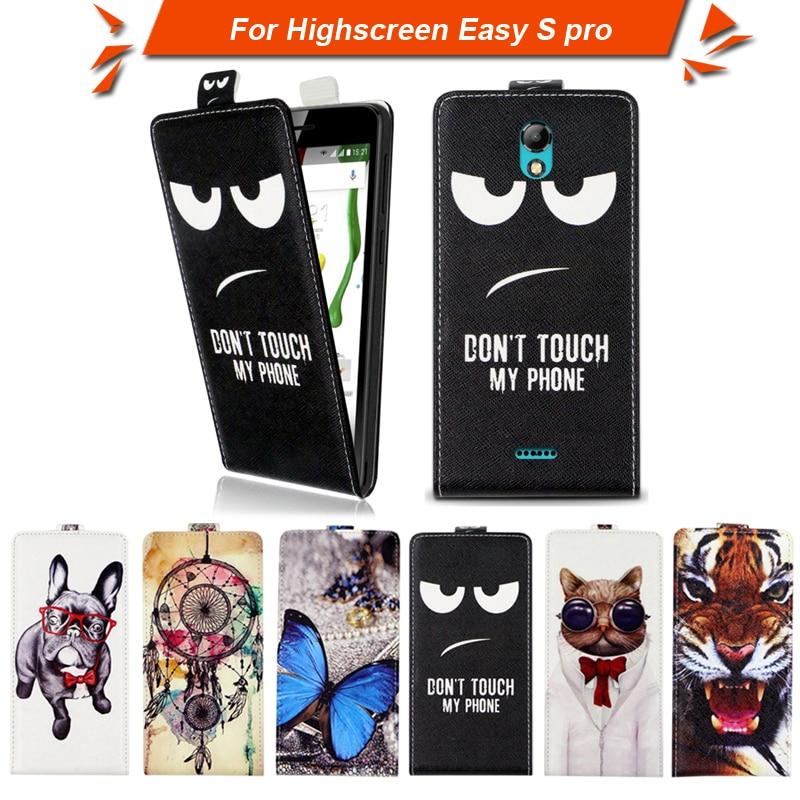 高品質のファッション漫画のパターンフリップアップとダウン革case highscreen簡単s