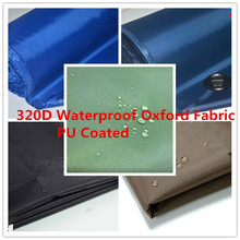 320D Waterproof Oxford Fabric PU Coated Outdoor Camping Tents Fabric Upholstery Durable Waterproof Furniture Fabric 150cm width
