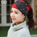 YBZ Весна Осенняя Мода Трикотажные Багги Шапочка Hat со Звездой женские Теплые Зимние Шапки для Девочек Женщины Шапочки Бонне Глава Cap