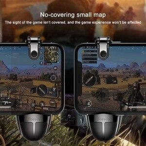 Image 3 - Baseus Pubg בקר נייד הדק עבור iPhone XR L1 R1 Shooter בקר אש כפתור Gameped ג ויסטיק עבור אנדרואיד טלפון