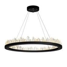 Краткая дизайн современный хрустальные люстры черный подвесные светильники AC110V 220 В блеск столовая светильники крючок лампа